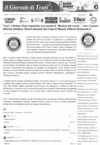 """Da """"IL Giornale di Trani"""" - 29/11/2013"""