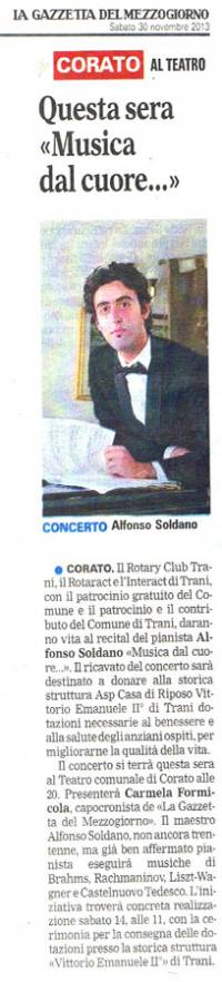 """Dalla """"Gazzetta del Mezzogiorno"""" - 30/11/2013"""