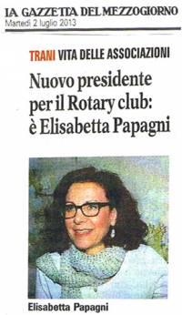Presidente Rotary E. Papagni